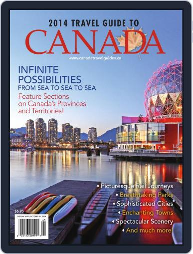 Travel Guide To Canada Magazine (Digital) March 18th, 2014 Issue Cover