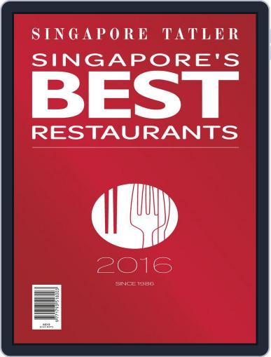 Singapore Tatler Singapore's Best Restaurants January 1st, 2016 Digital Back Issue Cover