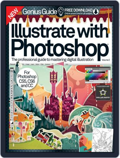 Illustrate with Photoshop Genius Guide Magazine (Digital) November 5th, 2014 Issue Cover