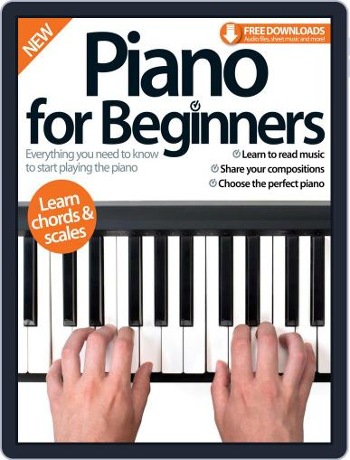 Piano For Beginners August 28th, 2015 Digital Back Issue Cover