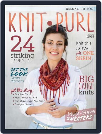 knit.purl Magazine (Digital) August 1st, 2015 Issue Cover
