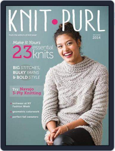 knit.purl Magazine (Digital) October 1st, 2014 Issue Cover