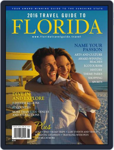 Travel Guide to Florida Magazine (Digital) January 1st, 2016 Issue Cover
