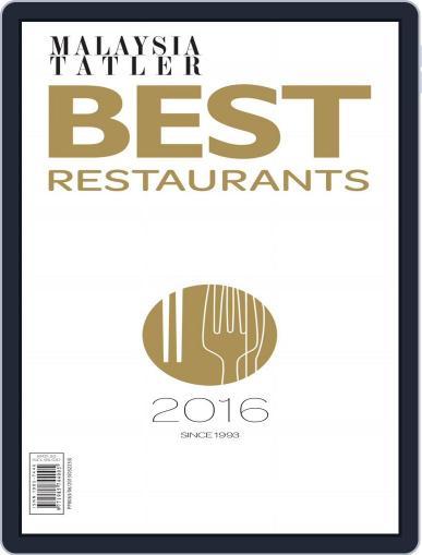 Malaysia Tatler Best Restaurants Magazine (Digital) January 1st, 2016 Issue Cover