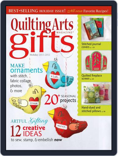 Quilting Arts Holiday Magazine (Digital) October 28th, 2011 Issue Cover