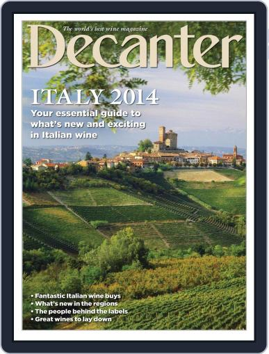 Decanter Italy Magazine (Digital) April 4th, 2014 Issue Cover