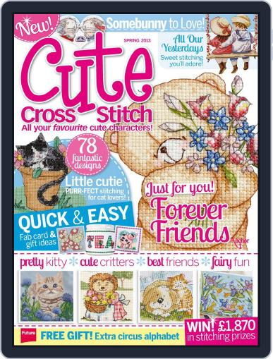 Cute Cross Stitch April 22nd, 2013 Digital Back Issue Cover