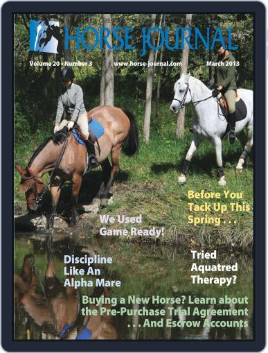 Horse Journal (Digital) February 22nd, 2013 Issue Cover