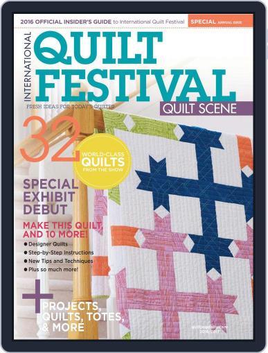 International Quilt Festival: Quilt Scene October 18th, 2016 Digital Back Issue Cover