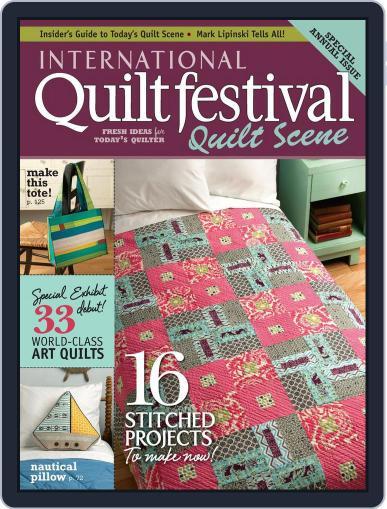 International Quilt Festival: Quilt Scene October 24th, 2012 Digital Back Issue Cover