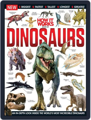 How It Works Book of Dinosaurs January 1st, 2016 Digital Back Issue Cover