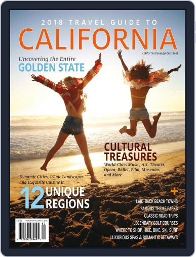 Travel Guide To California February 9th, 2018 Digital Back Issue Cover