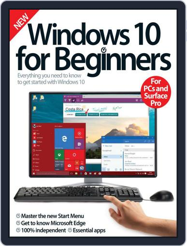 Windows 10 For Beginners Magazine (Digital) August 5th, 2015 Issue Cover