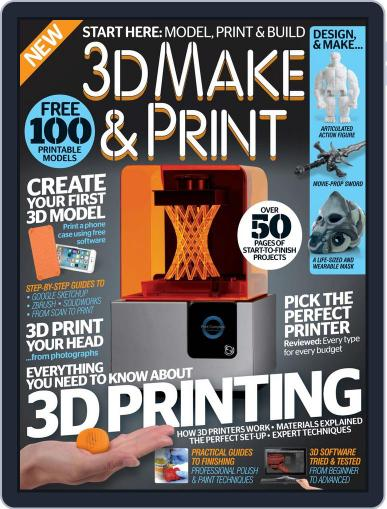 3D Make And Print April 1st, 2016 Digital Back Issue Cover