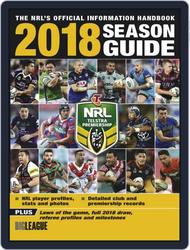 Big League: NRL Season Guide Magazine (Digital) February 13th, 2018 Issue Cover