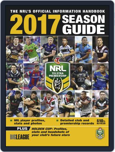 Big League: NRL Season Guide Magazine (Digital) March 1st, 2017 Issue Cover
