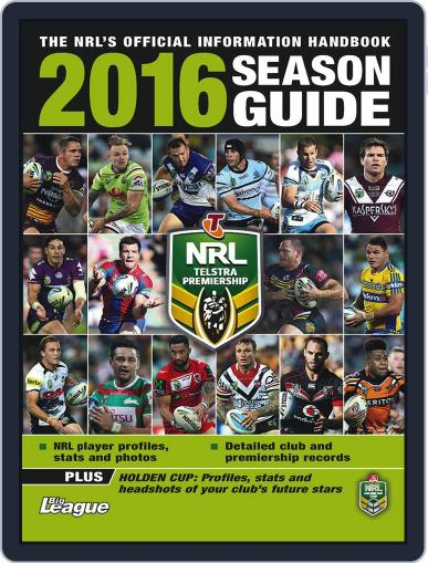 Big League: NRL Season Guide Magazine (Digital) February 1st, 2016 Issue Cover