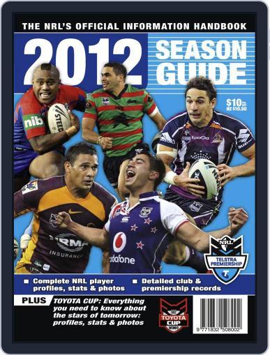 Big League: NRL Season Guide Magazine (Digital) January 17th, 2012 Issue Cover