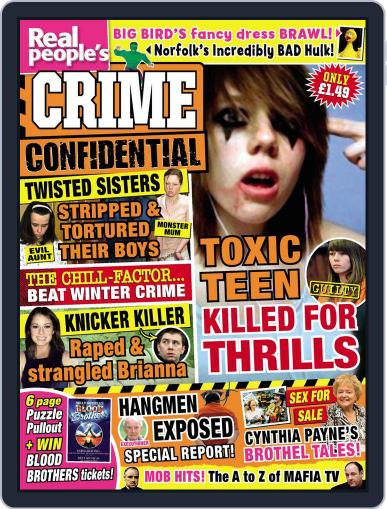 Real People's Crime Confidential Magazine (Digital) December 31st, 2014 Issue Cover
