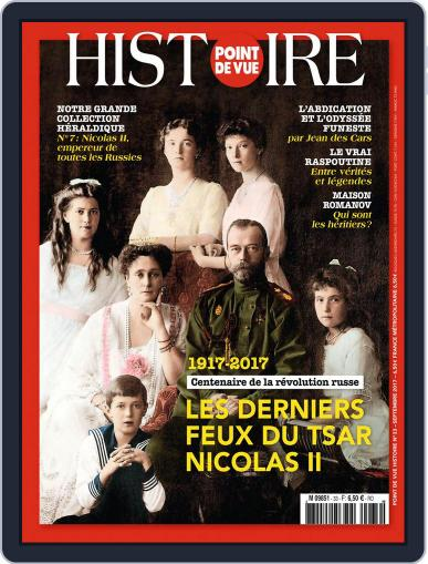 Point de Vue Histoire September 1st, 2017 Digital Back Issue Cover