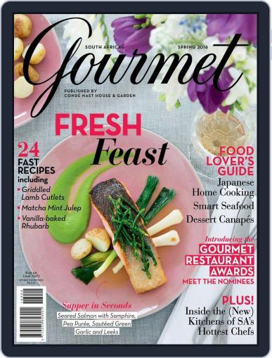 House & Garden Gourmet South Africa Magazine (Digital) September 1st, 2016 Issue Cover