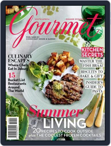 House & Garden Gourmet South Africa Magazine (Digital) November 10th, 2015 Issue Cover