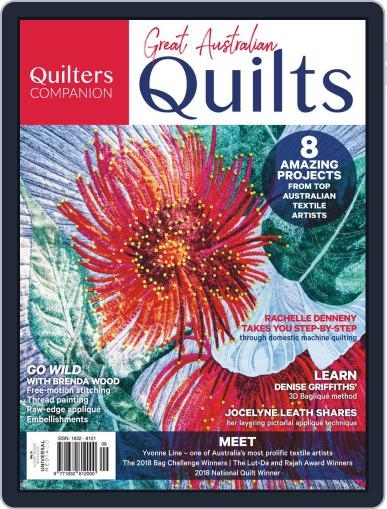 Great Australian Quilts Magazine (Digital) October 3rd, 2018 Issue Cover