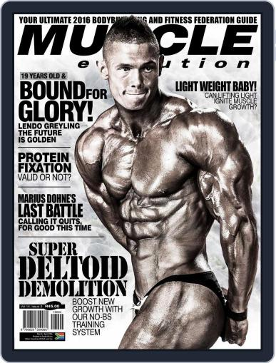 Muscle Evolution (Digital) February 22nd, 2016 Issue Cover