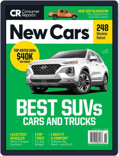 Consumer Reports New Cars November 1st, 2019 Digital Back Issue Cover