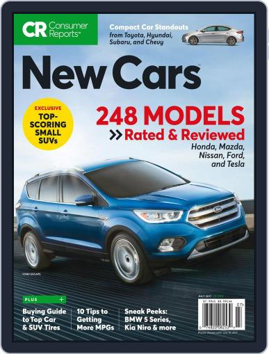 Consumer Reports New Cars July 1st, 2017 Digital Back Issue Cover