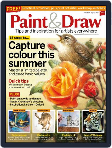 Paint & Draw (Digital) August 1st, 2017 Issue Cover