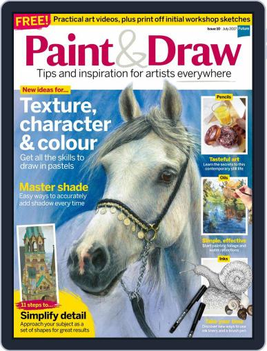 Paint & Draw July 1st, 2017 Digital Back Issue Cover