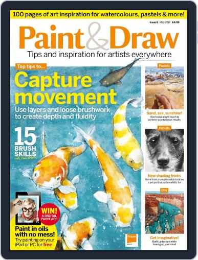 Paint & Draw May 1st, 2017 Digital Back Issue Cover