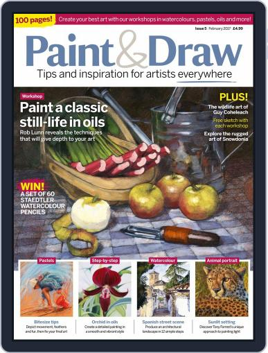 Paint & Draw February 1st, 2017 Digital Back Issue Cover