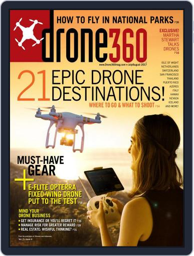 Drone 360 (Digital) August 1st, 2017 Issue Cover