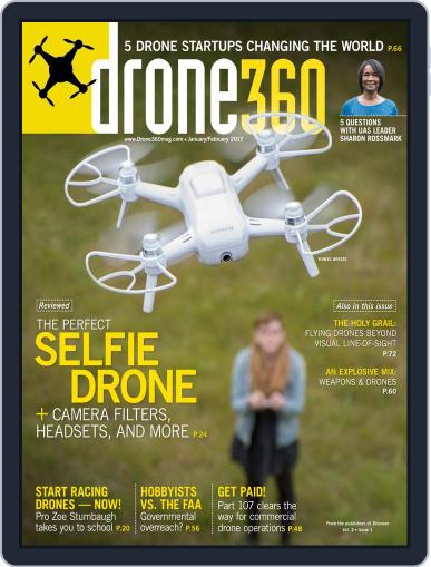 Drone 360 (Digital) February 1st, 2017 Issue Cover
