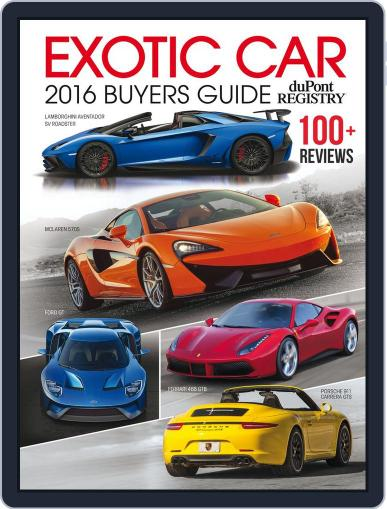 Exotic Car Buyers Guide Magazine (Digital) January 1st, 2016 Issue Cover