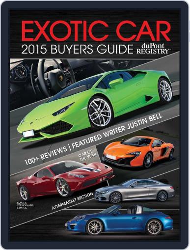 Exotic Car Buyers Guide Magazine (Digital) January 1st, 2015 Issue Cover