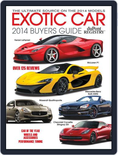 Exotic Car Buyers Guide Magazine (Digital) January 1st, 2014 Issue Cover