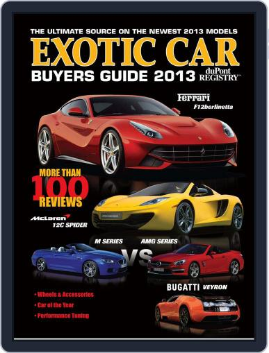 Exotic Car Buyers Guide Magazine (Digital) July 1st, 2013 Issue Cover