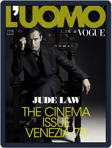 L'uomo Vogue (Digital) September 1st, 2016 Issue Cover