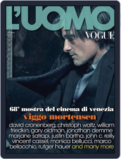 L'uomo Vogue (Digital) September 19th, 2011 Issue Cover
