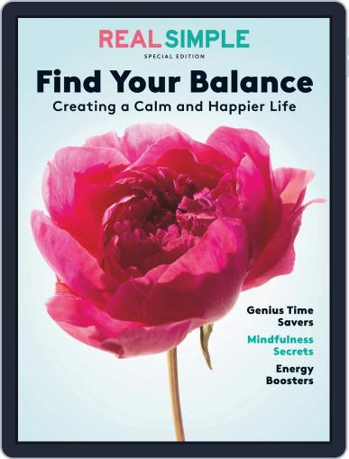 Real Simple Find Your Balance May 12th, 2020 Digital Back Issue Cover