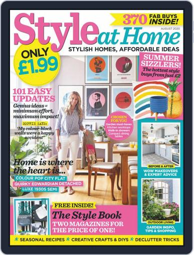Style At Home United Kingdom (Digital) August 1st, 2020 Issue Cover