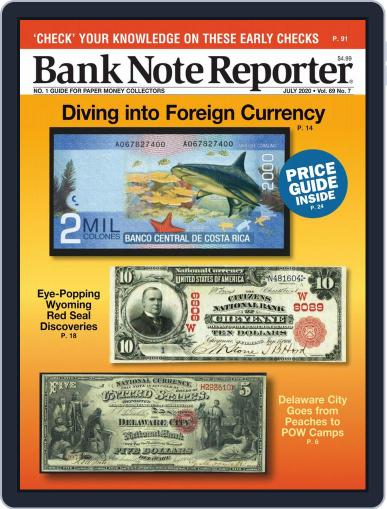 Banknote Reporter July 1st, 2020 Digital Back Issue Cover
