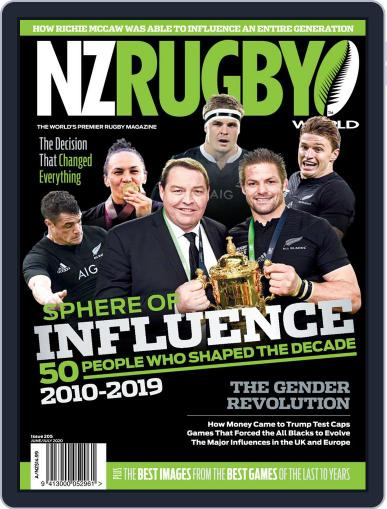 NZ Rugby World June 1st, 2020 Digital Back Issue Cover