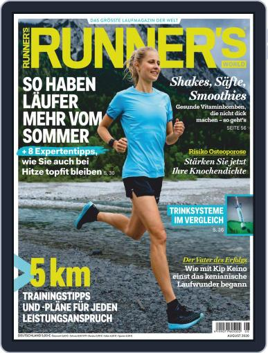 Runner's World Deutschland August 1st, 2020 Digital Back Issue Cover