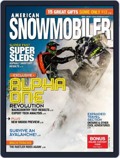 American Snowmobiler Magazine (Digital) December 1st, 2018 Issue Cover