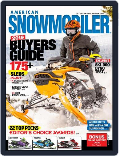American Snowmobiler Magazine (Digital) October 1st, 2018 Issue Cover