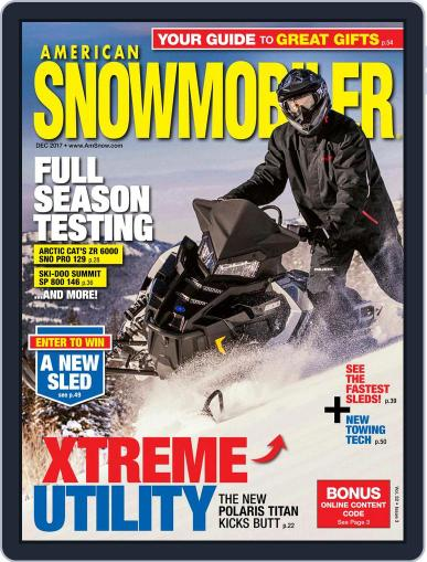 American Snowmobiler Magazine (Digital) December 1st, 2017 Issue Cover